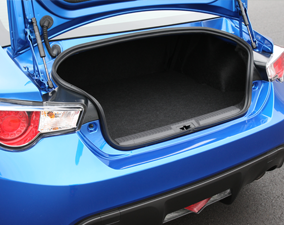 2013 Subaru BRZ Trunk Cargo Space