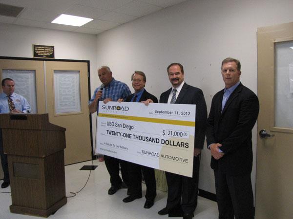 Kearny Mesa Subaru, Sunroad Automotive USO Donation  Event