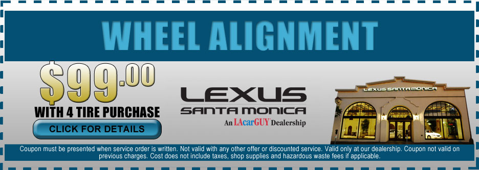 Lexus Wheel Alignment Discount with Purchase of 4 Tires at Lexus Santa Monica