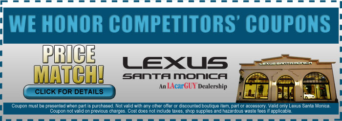 Lexus Santa Monica Competitive Coupons Service Special Offer, Los Angeles, CA