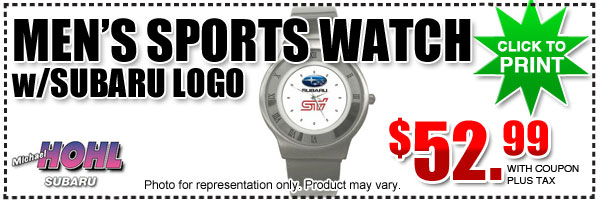 Subaru Branded White Face Sports Wrist Watch - Men's Parts Discount serving Carson City, Nevada