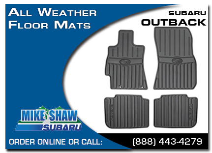 Denver, subaru, all weather floor mats, outback, accessories, parts, specials