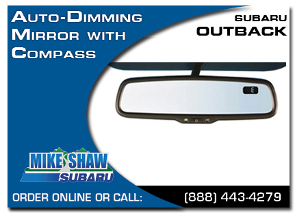 Denver, subaru, auto-dimming mirror, compass, outback, accessories, parts, specials