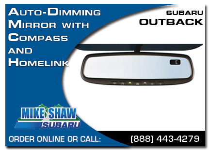 Denver, subaru, auto-dimming mirror, compass, homelink, outback, accessories, parts, specials