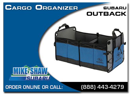 Denver, subaru, cargo organizer, outback, accessories, parts, specials