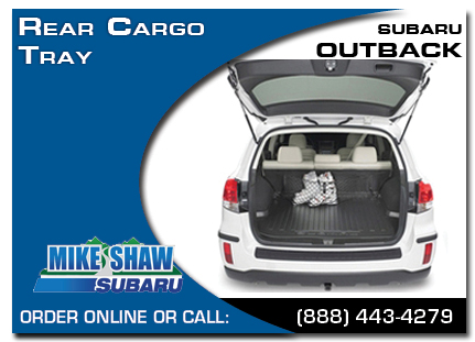 Denver, subaru, rear cargo tray, outback, accessories, parts, specials