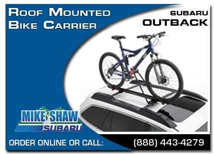 Denver, subaru, bike carrier, roof mounted, outback, accessories, parts, specials