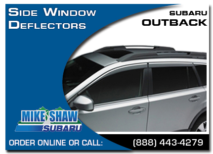 Denver, subaru, side window deflectors, outback, accessories, parts, specials