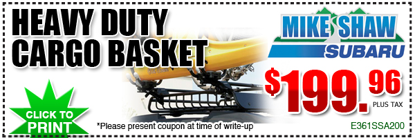 Genuine Subaru Heavy Duty Cargo Basket Parts Discount Coupon, Denver Colorado