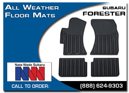 Salt Lake City, subaru, all weather floor mats, forester, accessories, parts, specials