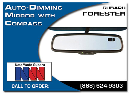 Salt Lake City, subaru, auto-dimming mirror, compass, forester, accessories, parts, specials