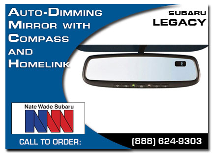 Salt Lake City, subaru, auto-dimming mirror, compass, homelink, legacy, accessories, parts, specials