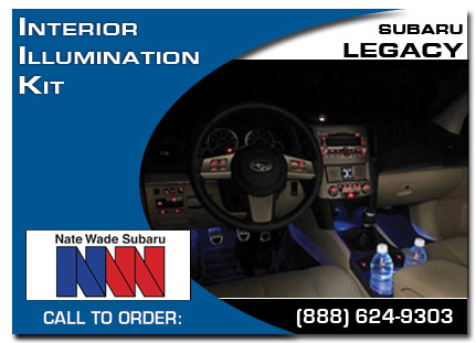 Salt Lake City, subaru, interior illumination kit , legacy, accessories, parts, specials
