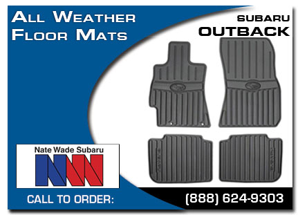 Salt Lake City, subaru, all weather floor mats, outback, accessories, parts, specials