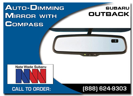 Salt Lake City, subaru, auto-dimming mirror, compass, outback, accessories, parts, specials
