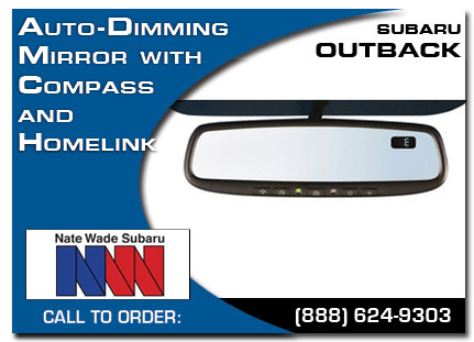 Salt Lake City, subaru, auto-dimming mirror, compass, homelink, outback, accessories, parts, specials