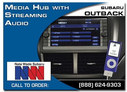 Salt Lake City, subaru, media hub, straming audio , outback, accessories, parts, specials