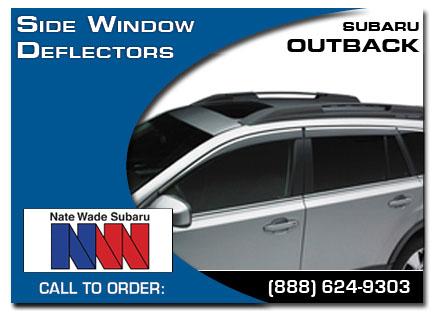 Salt Lake City, subaru, side window deflectors, outback, accessories, parts, specials