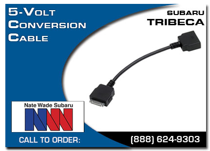 Salt Lake City, subaru, 5 volt conversion cable, tribeca, accessories, parts, specials
