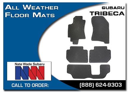 Salt Lake City, subaru, all weather floor mats, tribeca, accessories, parts, specials