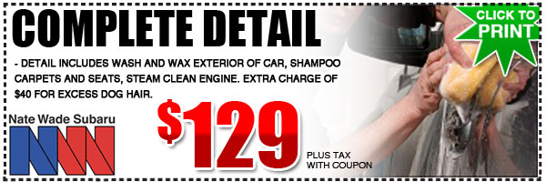 Salt Lake City Subaru Full Detail Service Special Discount Coupon