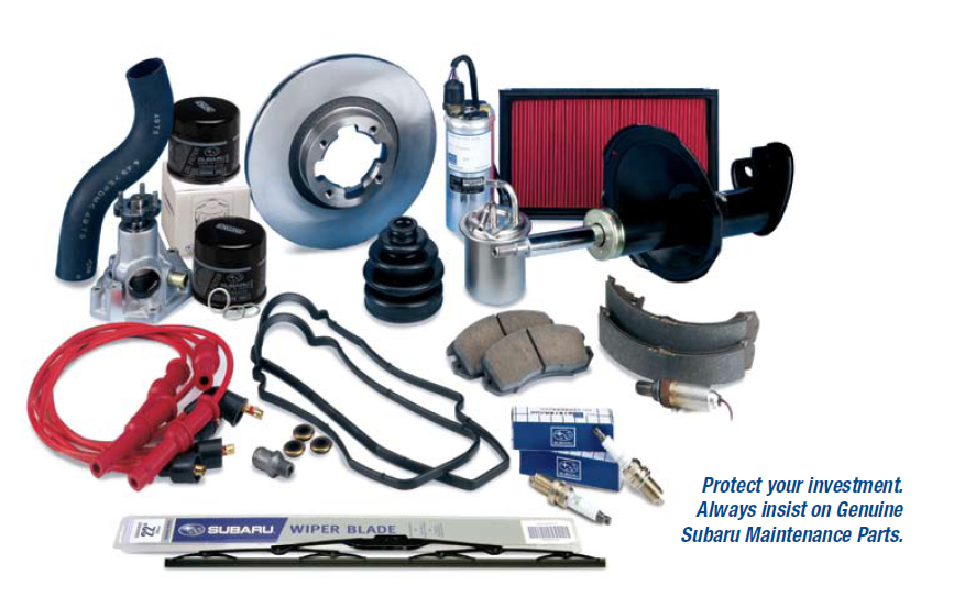 Protect your investment. Always insist on  Genuine Subaru Maintenance Parts