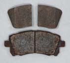 Genuine Subaru Brake Pads after Salt Spray
