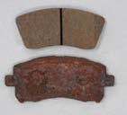 Aftermarket Brake Pads after Salt Spray