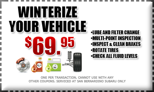 subaru winter service special, discount coupon, maintenance, repair