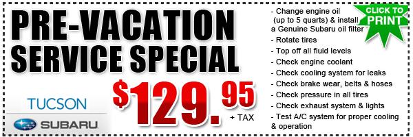 car servicing specials