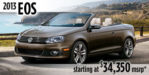 New 2013 VW Eos Model Details & Specifications serving Ballard, Seattle, West Woodland, Phinney Ridge, Fremont, WA