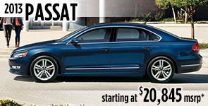 New 2013 VW Passat Model Details & Specifications serving Ballard, Seattle, West Woodland, Phinney Ridge, Fremont, WA