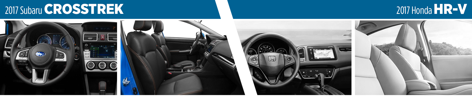 2017 Subaru Crosstrek vs 2017 Honda HR-V Interior Comparison