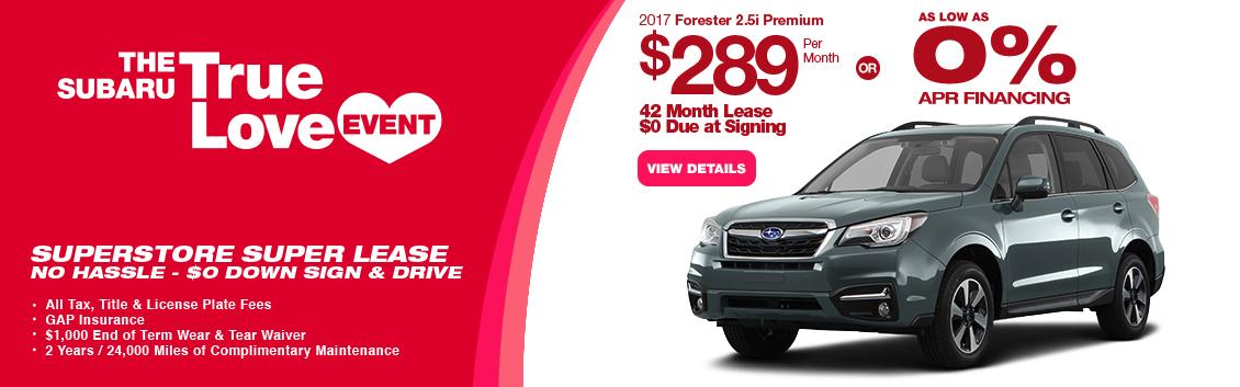 2017 Subaru Forester 2.5i Premium Lease or Low APR Special serving Phoenix, AZ