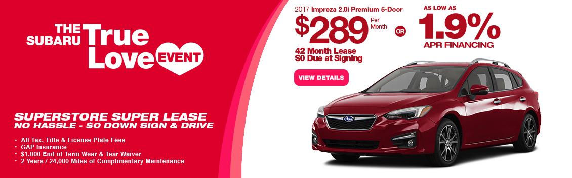 2017 Impreza 2.0i Premium 5-Door Lease or Low APR Special serving Phoenix, AZ