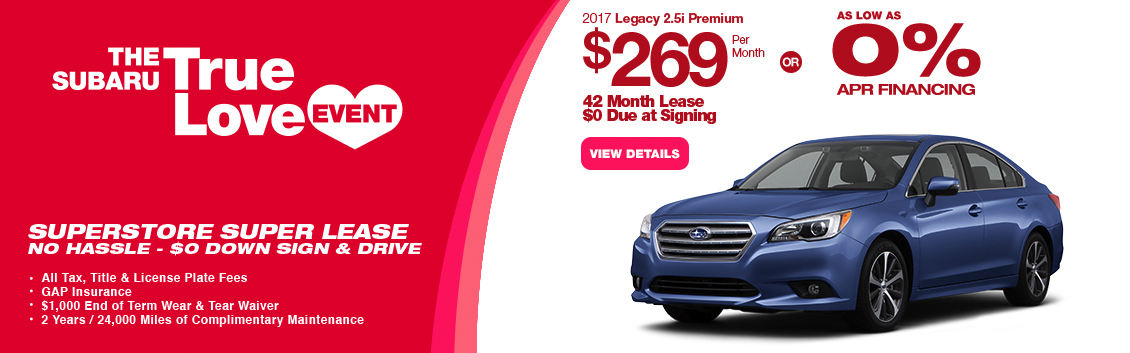 2017 Subaru Legacy 2.5i Premium Lease or Low APR Special in Chandler, AZ