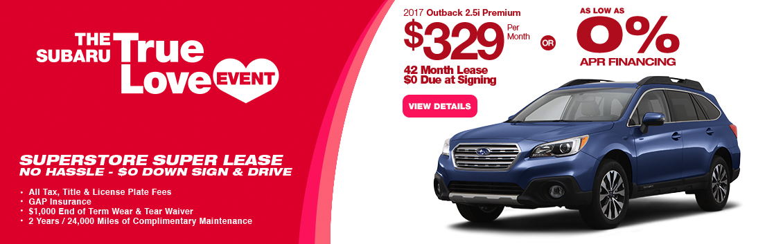 2017 Subaru Outback 2.5i Premium Lease or Low APR Special in Chandler, AZ