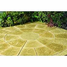 Abbey Patio Circle Kit 2.4m in York Gold