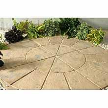 Minster Circle Paving Kit 1.8m in Autumn Brown