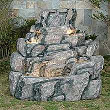 Large Wide Rock Water Feature