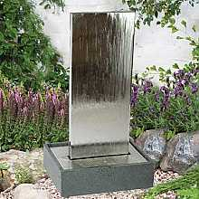 Stainless Steel Water Feature in Granite Base