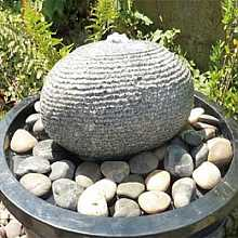 Volcano Granite Garden Water Feature With Pump And Resevoir