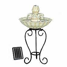 Solar Flower on Stand Water Feature