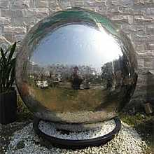 Riga Stainless Steel Sphere Water Feature Fountain