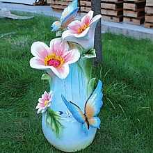 2 Butterflies on Flowers Water Feature