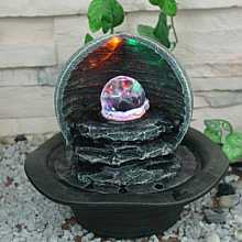 LED Crystal Ball Indoor Water Feature