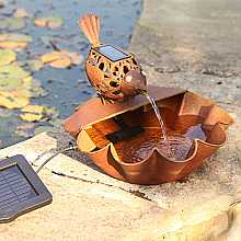Ting Tang Bird Fountain Water Feature with Light