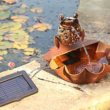 Ting Tang Frog Fountain Water Feature with light