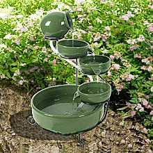 Solar Powered Green Terracotta Cascade Water Feature