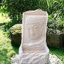 Medium Sandstone Buddha on Wall Water Feature